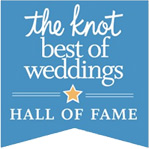 Inductee of The Knot Best of Weddings Hall of Fame