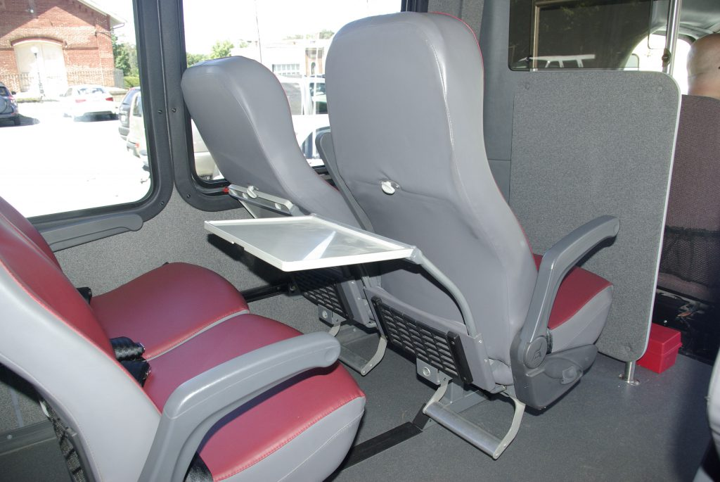 The Senator showing tray back, recliners and foot rests