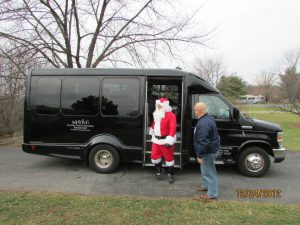 Santa with Len Joseph from On The Town Limousines