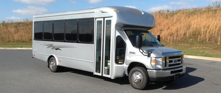 25 Passenger Silver Coach Bus